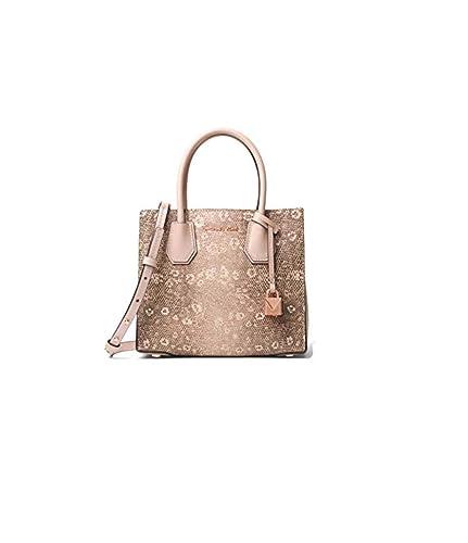 50ee37e060 MICHAEL Michael Kors Mercer Lizard-Embossed Leather Crossbody Bag - Oyster:  Handbags: Amazon.com