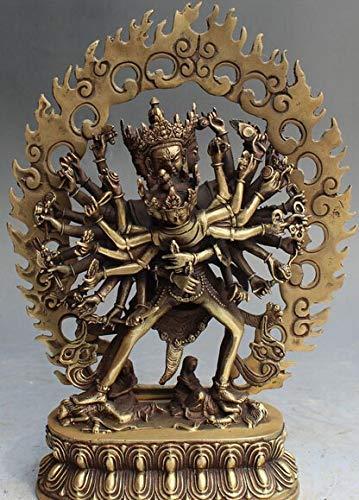 (Viet JK Tibet Silver Buddha Statue 13