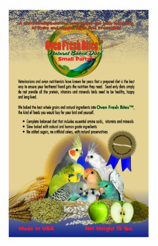 Oven Fresh Bites Baked Avian Diet – Small Parrot – 15 lb. Bulk Box, My Pet Supplies