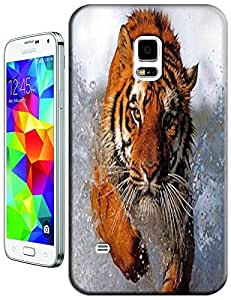 Tiger Case Cover Hard Back Cases Beautiful Nice Cute Animal hot selling cell phone cases for Samsung Galaxy S5 i9600 # 12
