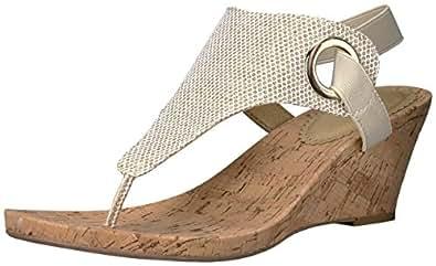 Amazon Com White Mountain Women S Aida Wedge Sandal