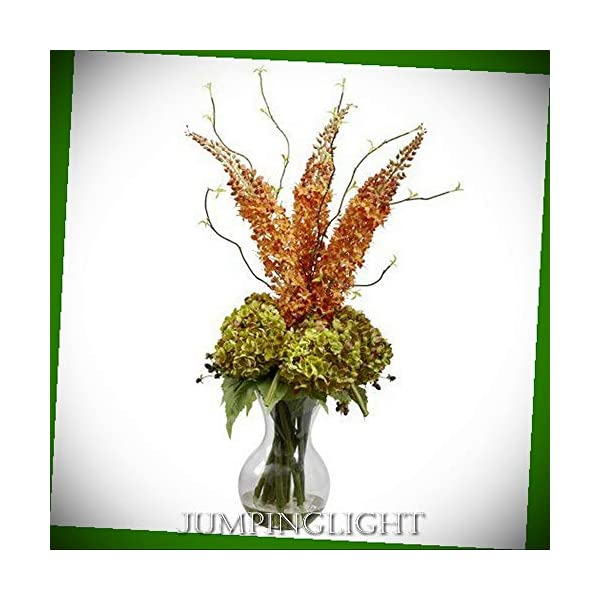 JumpingLight Fancy Foxtail and Hydrangea Arrangement Artificial Flowers Wedding Party Centerpieces Arrangements Bouquets Supplies