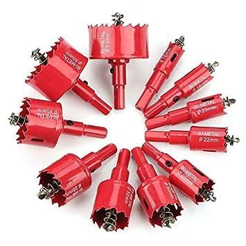 pour d/écouper des trous circulaires avec tige trou de diam/ètre 115 mm bi-m/étal foret M42 HSS tr/épan de forage pilote 1x Scie cloche