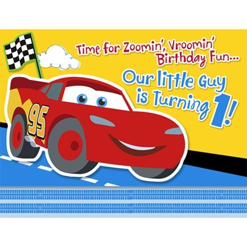 1st Disney Cars Invitation - 8/Pkg. ()
