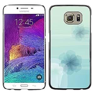 TopCaseStore / la caja del caucho duro de la cubierta de protección de la piel - Flowers Wallpaper Light Blue Sky Nature - Samsung Galaxy S6 SM-G920