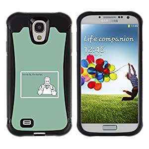 iKiki Tech / Estuche rígido - Fat Married Diet Quote Funny Junk Food - Samsung Galaxy S4 I9500