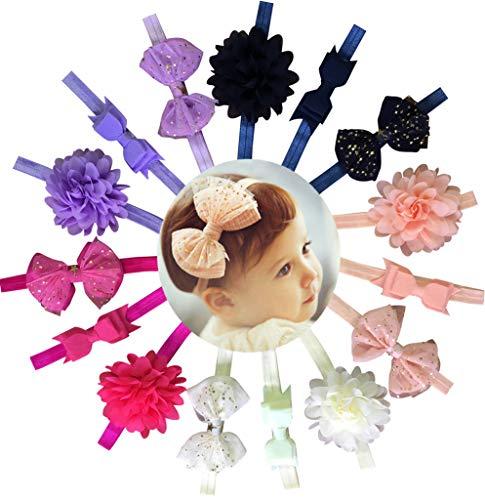 Qandsweet Baby Girl's Beautiful Headbands Elastic Hairband for Photograph -