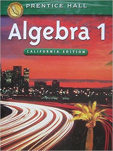 Algebra 1 California Edition Teaching Resources Package