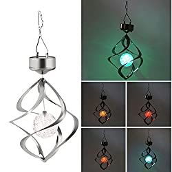 mk. park - Solar Powered LED Wind Chime Wind Spinner Windchime Outdoor Garden Courtyard