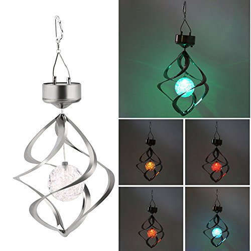 mk. park - Solar Powered LED Wind Chime Wind Spinner Windchime Outdoor Garden - Stefani Gwen Sunglasses