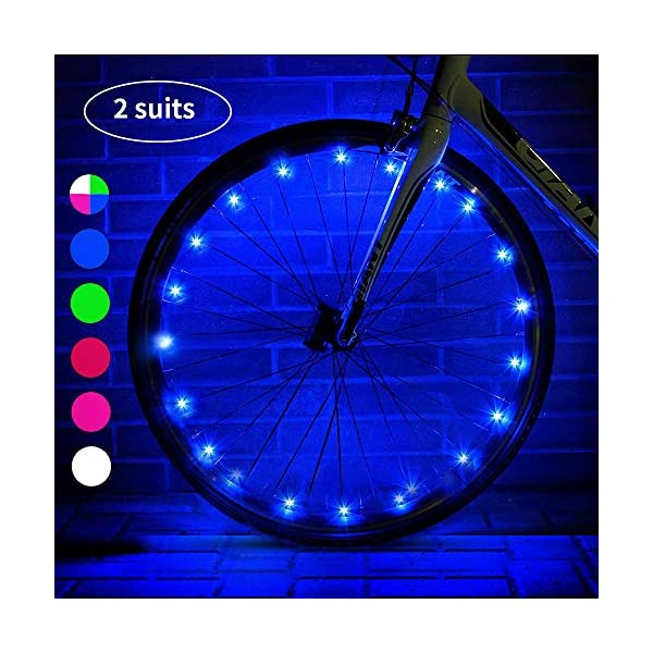 esonstyle LED Bike Wheel Lights with Batteries Included!,Waterproof LED Bicycle Spoke...