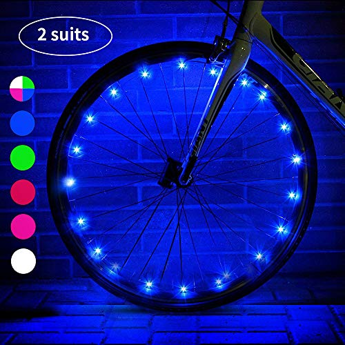 esonstyle LED Bike Wheel Lights with Batteries Included!,Waterproof LED Bicycle Spoke Light, Cool Safety Bike Tire Accessories, Light Up Spokes