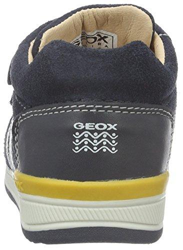 Geox B Rishon Boy a, Botines de Senderismo para Bebés Azul (Navy / Ochreyellow c0916)