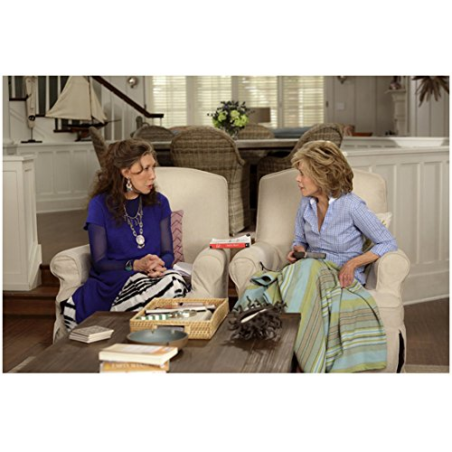 grace-and-frankie-jane-fonda-and-lily-tomlin-seated-talking-8-x-10-inch-photo