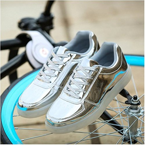 Boy Girls Shoes Big Shoes Style Light Childrens USB Small Shoes Shoes Emitting c44 LED Shoes Lighted Luminous Boys Towel Charging Sports azSvUT