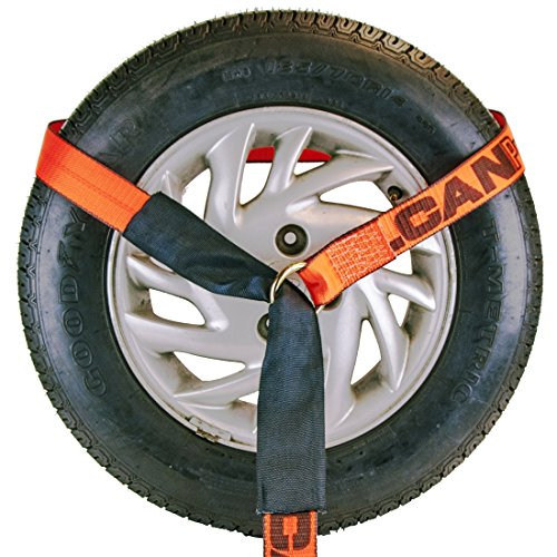 Vulcan ProSeries 96'' Lasso Auto Tie Down w/Chain Anchors, 3300 lbs. SWL, 4 Pack by VULCAN (Image #3)