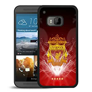 Fashionable And Unique Designed Case For HTC ONE M9 Phone Case With Liverpool FC Black