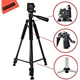 Lightweight 60-inch Professional Camera Tripod For Sony Alpha A99, A3000, A5000, A6000, A6300, SLT-A33, A35, A55, A58, A65, A7, A7R, A77, A77II, DSLR330L, NEX-3N, NEX-5T, NEX-6, NEX-7K, NEX-F3 Cameras