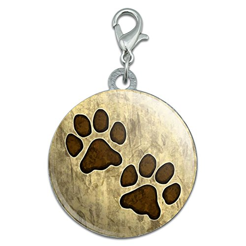 Grungy Tags (Grungy Pet Paw Prints Stainless Steel Pet Dog ID)