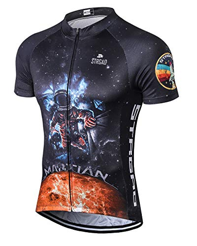 MR Strgao Men's Cycling Jersey Bike Short Sleeve Shirt Size L