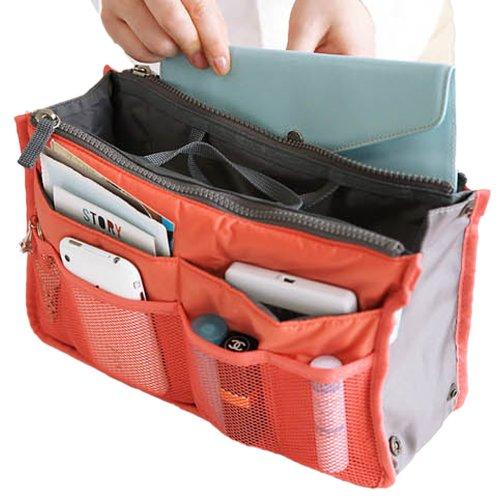 Hee Grand Damen Multifunktionale Handtasche Reise Kosmetik Tasche 12 Tueten Orange