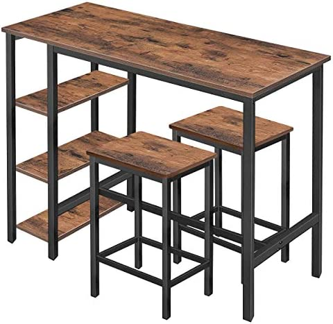 Mupater High Industrial Bar Dining Table Set