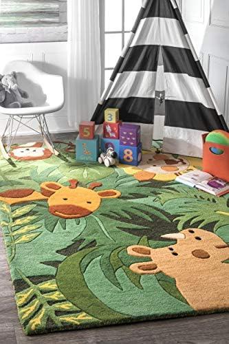 nuLOOM Kinder Safari Friends Wool Area Rug