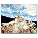 NASA Space Shuttle Doors Open Science Motivational Wall Decor Art Print Poster (16x20)