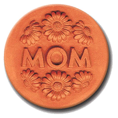 RYCRAFT 2 inch Round Cookie Stamp with Handle & Recipe Booklet-MOM