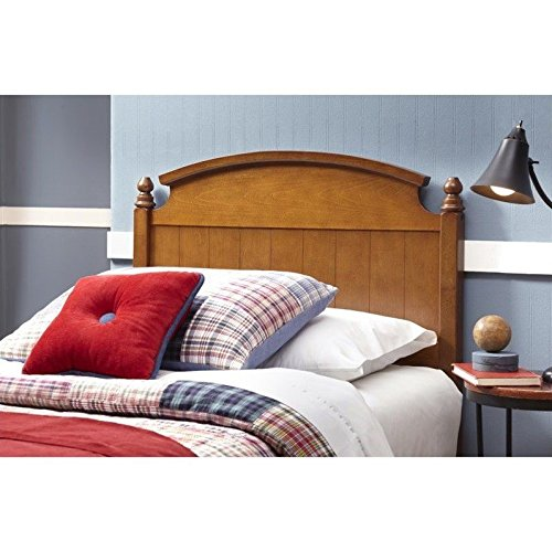 Danbury Wooden Headboard Panel with Curved Topped Rail and Carved Finials, Walnut Finish, Full / Queen by Fashion Bed Group