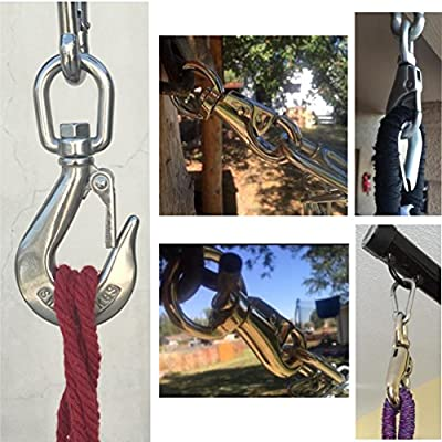 Hammock Hanging Chair Trampoline Springs Kit - Heavy Duty 700 Lb Capacity - Stainless Steel Rust Resistant Use for Indoor or Outdoor : Garden & Outdoor