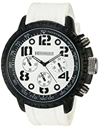 Hennessey Time Men's MR4014 Analog Display Analog Quartz White Watch