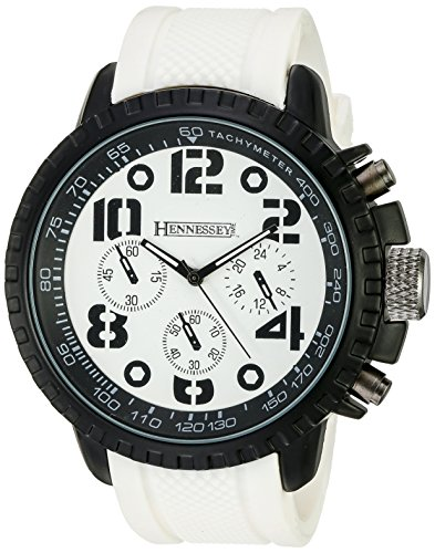 Hennessey Time Men's MR4014 Analog Display Analog Quartz White Watch