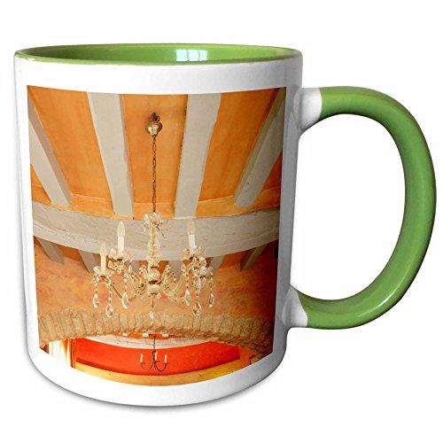 Light Provence Ceiling (3dRose Danita Delimont - Provence - Ceiling beams in French villa, Provence, France - EU09 AJE0087 - Adam Jones - 11oz Two-Tone Green Mug (mug_135758_7))