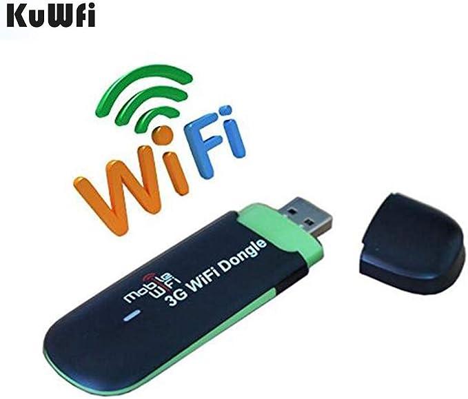 3G Router, KuWFi Desbloqueado 7.2Mbps 3G USB Wifi módem enrutador inalámbrico Dongle Wifi coche con sim Slot Apoyo red 3G de trabajo de interior y al ...