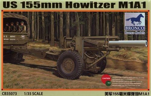 Bronco Models CB35073Model Kit US M1A1155mm Howitzer, - Wwii Artillery