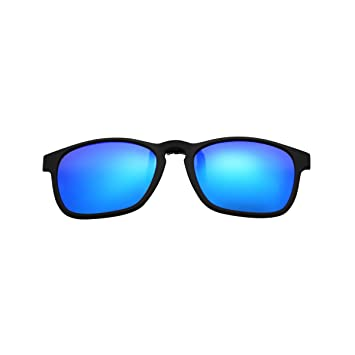 Clip – en Flip Up gafas de sol, lente de cristal de conducción Classic con marco TR90 polarizadas gafas, hombre, azul