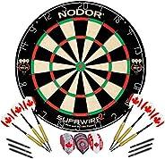 Nodor Supawire 2 Premium Bristle Dartboard Set with Rotating Number Ring, Staple Free Bullseye, Tri-Wire / Dia