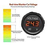 MICTUNING J0001L DC 12V LED Display Voltmeter