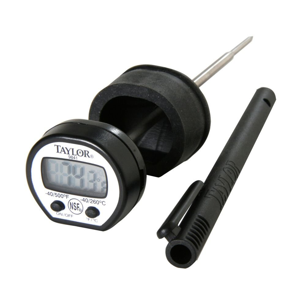 Taylor Precision 9841RB Instant Read Digital Pocket Thermometer, NSF
