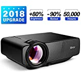 Ragu Z400 Mini Projector, 2018 Upgraded (+85% Brightness, 90% Less Noise) 130'' 1080P HD Home Movie Portable Video Projector for PC/MAC/DVD/TV/Xbox/Movies/Games/Smartphone with HDMI/VGA/USB/AV/SD