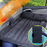 STAZSX Car air mattress, rear bed, inflatable cushion, car travel bed, black