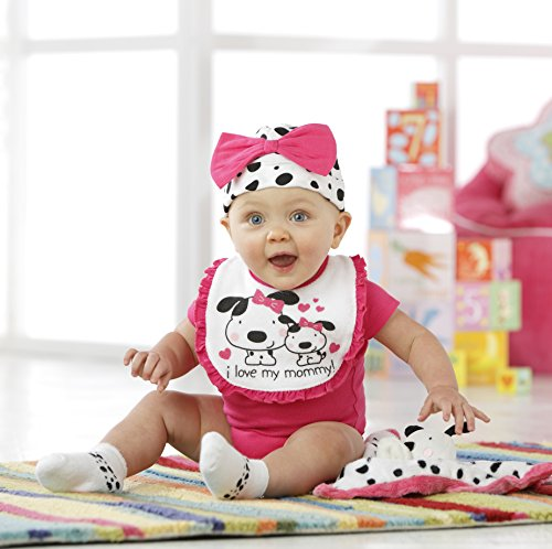 Gerber Baby Girls' 3 Pack Terry Dribbler Bibs