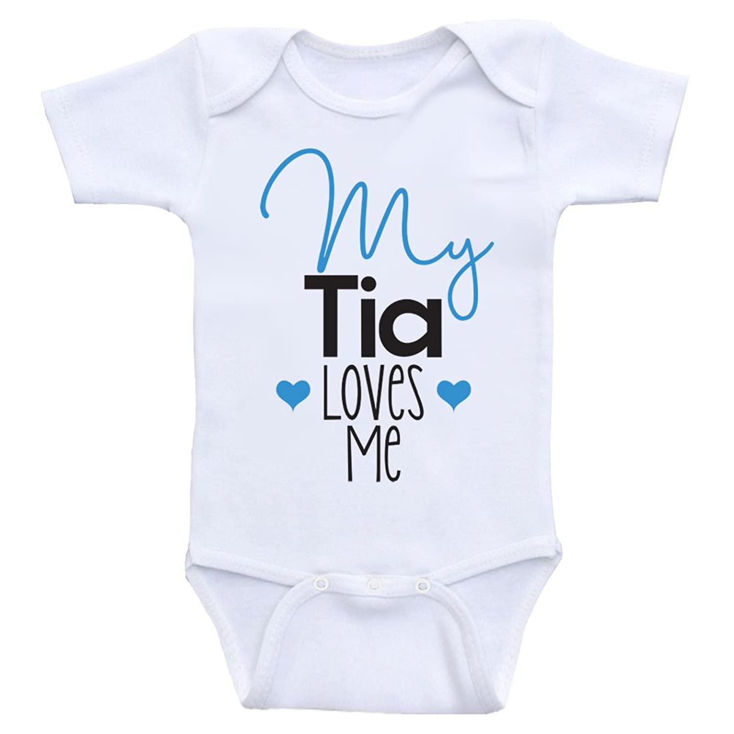 "Amazon Tia Baby Clothes ""My Tia Loves Me"" Cute Baby Clothes e"
