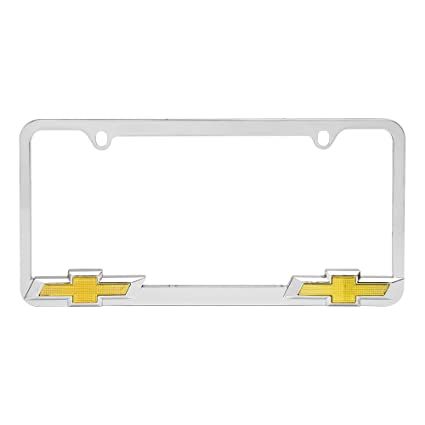 Amazon.com: Bully WL011-C Chevrolet License Plate Frame - Chrome ...