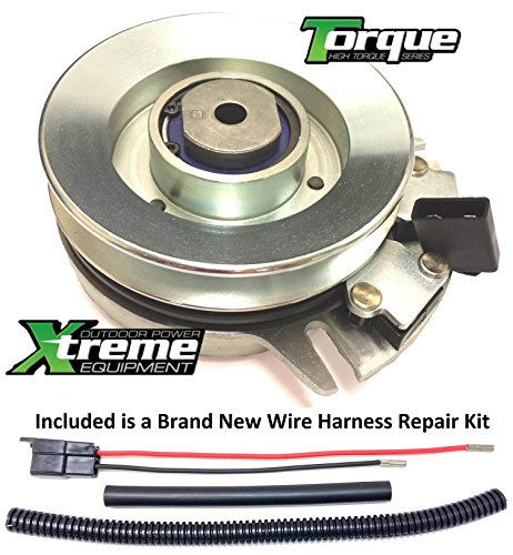 Bundle - 2 items: PTO Electric Blade Clutch, Wire Harness Repair Kit. Replaces MTD Cub Cadet GT2542, 2155, 2166, 2145, 2150 Clutch -w/ Wire Repair Kit