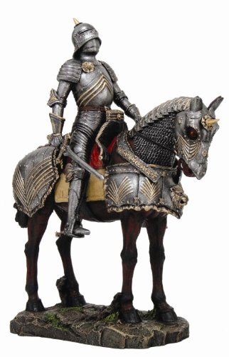 Amazon Com Large 13 Quot H Medieval Knight On Calvary Horse