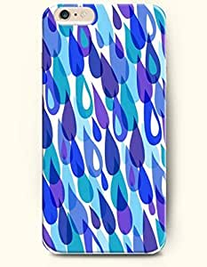 Blue Violent Aqua Dewdrop - Geometric Pattern - Phone Cover for Apple iPhone 6 Plus ( 5.5 inches ) - SevenArc Authentic...