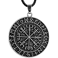 1pcs Norse Vikings Amulet Pendant Necklace Norse Vegvisir RUNE Necklace Pendant Necklace Original...