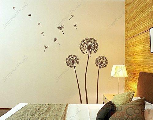 brown dandelion decal - 1